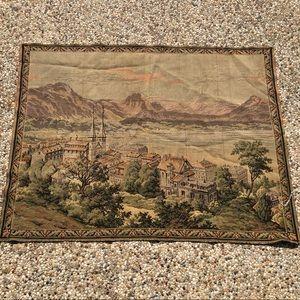Vintage Tapestry European Cityscape Landscape NEW